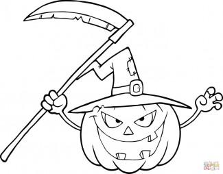 Страшная хеллоуинская тыковка