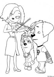 Дружок Барбоскин с Лизой и мамой