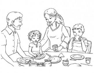 Семья на масленицу