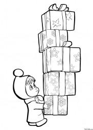 Маша с подарками