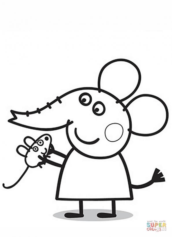 Раскраска Слонёнок Эмили, распечатать или скачать из ...