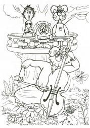 Айболит играет на виолончели