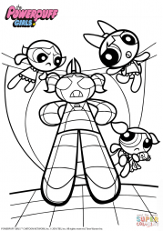 Powerpuff Girls vs. Monster