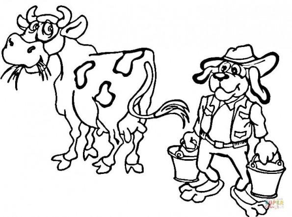 Раскраска Собака фермер, распечатать или скачать из ...