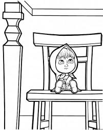 Маша на стуле