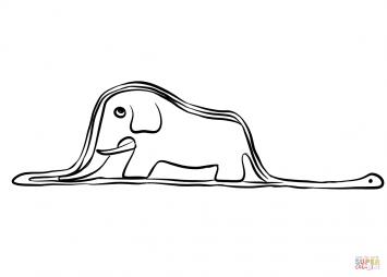 Слон внутри удава