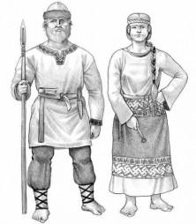 В костюмах Древней руси
