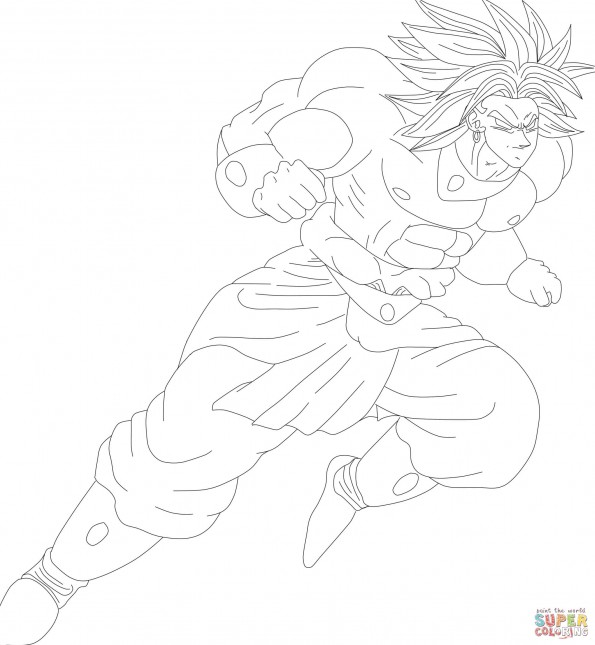 Раскраска Броли из видео игры Mugen, распечатать или ...
