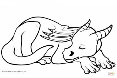Милый спящий дракончик