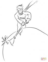 Маленький принц выпалывает баобабы