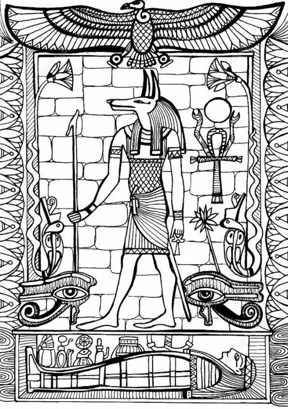 Боги древнего египта картинки раскраски