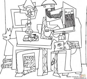"""Три музыканта"". Пабло Пикассо"