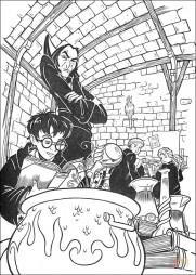 Гарри изучает заклинания