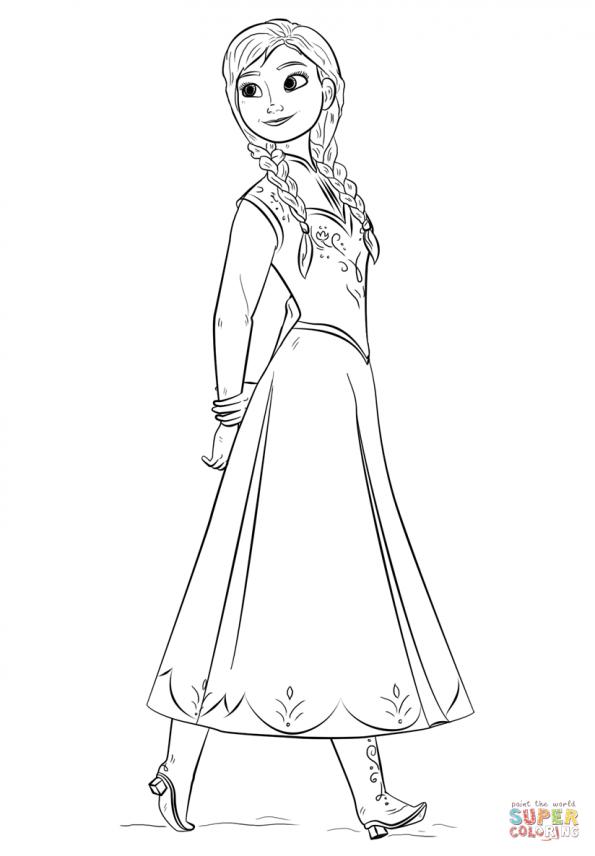 Раскраска Принцесса Анна, распечатать или скачать из ...