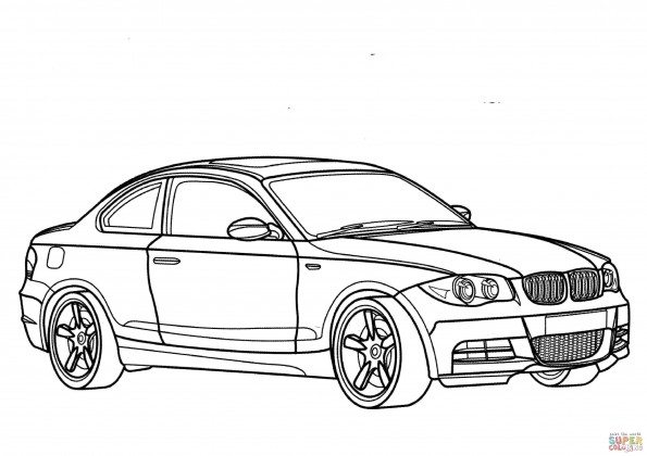 Раскраска Автомобиль BMW 1 Series, распечатать или скачать ...