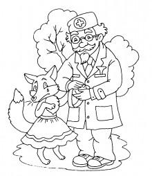 Айболит лечит лисичку