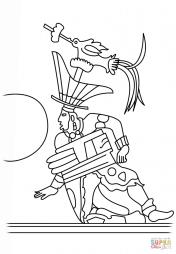 Игрок в мяч, изображённый на вазе