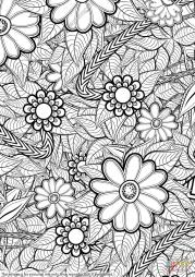 Цветочный орнамент в технике дзентангл