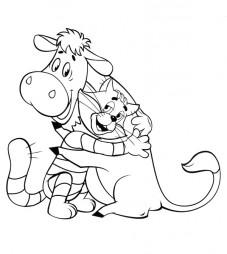 Матроскин обнимает корову