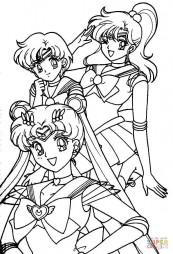 Девочки, героини японского мультсериала