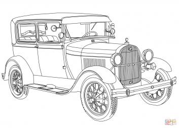 Ретро авто 1928 Ford Model A