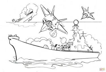 Бомбардировка военного корабля