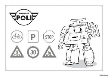 Робокар Поли и знаки
