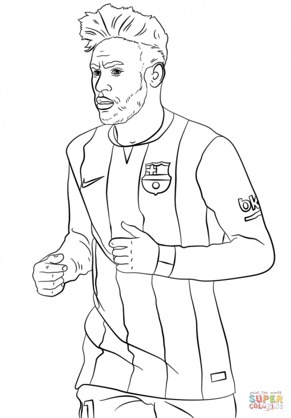 soccer star messi coloring pages - photo#13