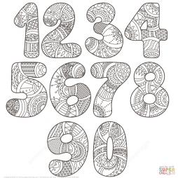 Цифры 0-9 в технике зентагл