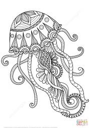 Медуза в технике дзентангл