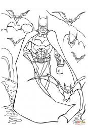 Бэтмен с летучими мышами