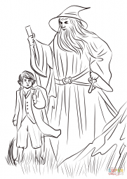 Over Hill, Bilbo and Gandalf