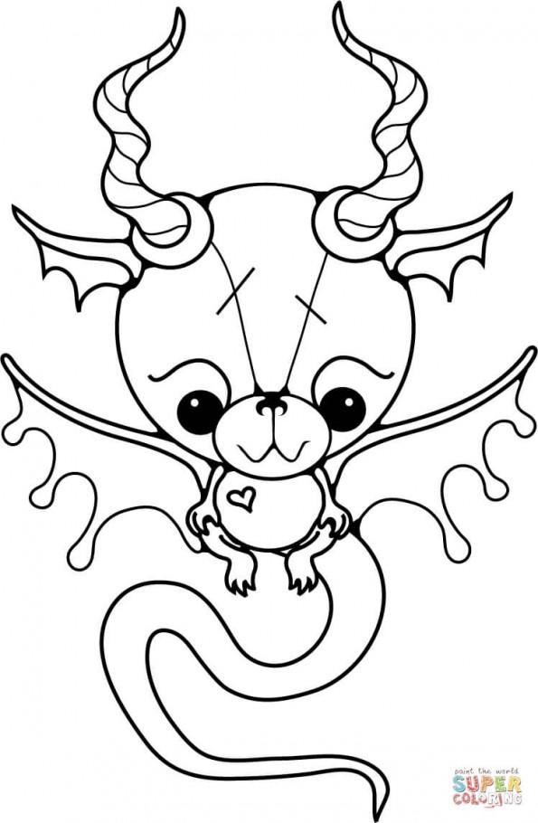 Раскраска Маленький дракон, распечатать или скачать из ...