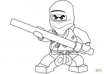 Черный ниндзя Коул из Lego Ninjago