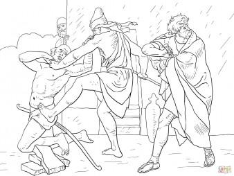 Моисей убивает египетского надсмотрщика