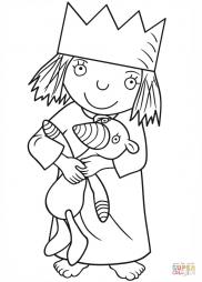 Маленькая принцесса с плюшевым Гилбертом