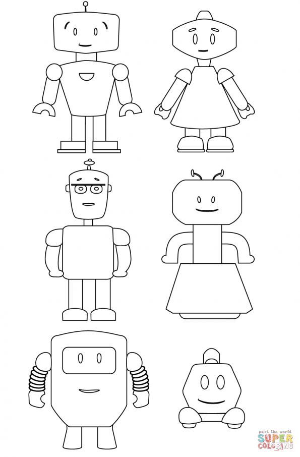 Раскраска Мылые роботы, распечатать или скачать из ...