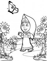 Маша и бабочка