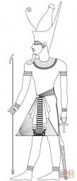 Фараон в двойной короне пшент