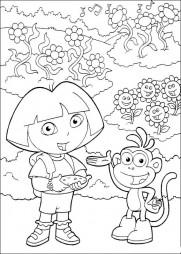 Даша и Башмачок на поляне