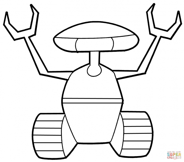 Раскраска Поисковый робот, распечатать или скачать из ...