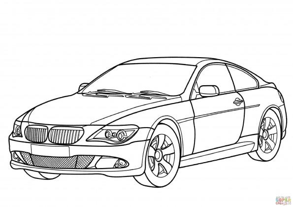 Раскраска Автомобиль BMW 6 Series, распечатать или скачать ...