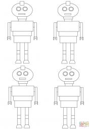 Узор с роботами