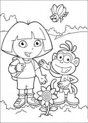 Даша и Башмачок нашли цветок
