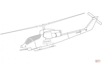 Боевой вертолёт Белл AH-1 «Си Кобра»