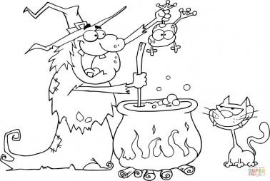 Безумная ведьма готовит зелье