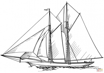 Парусное судно Бригантина