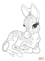 Маленькая зебра