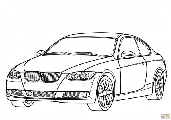 Раскраска Автомобиль BMW 3 Series, распечатать или скачать ...