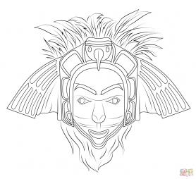 """Индейская маска """"Орел"""""""